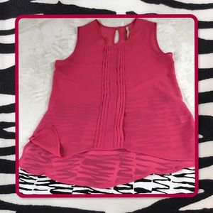 PAPER CRANE PINK SLEEVELESS TOP S